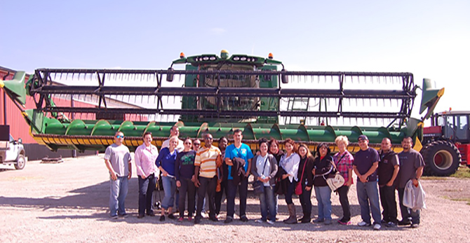 Stampede employees learn about a local family farm est. 1850 and their beef business today.
